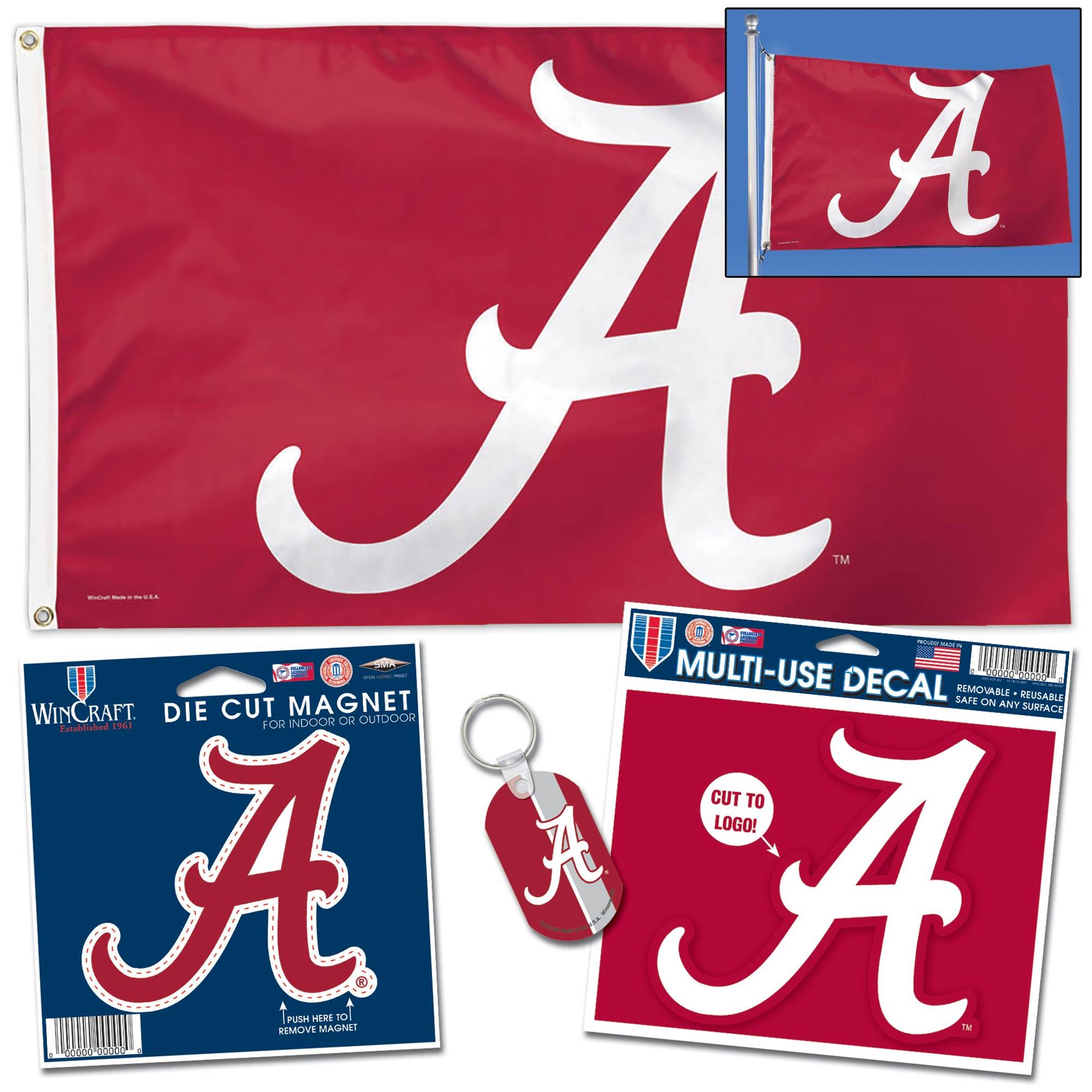 NCAA Alabama Crimson Tide Team Decal 3-Pack