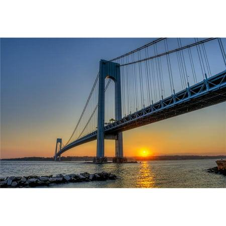 Posterazzi DPI12257082 Verrazano-Narrows Bridge at Sunset Brooklyn - New York City United States of America Poster Print - 18 x 12 in. - image 1 de 1