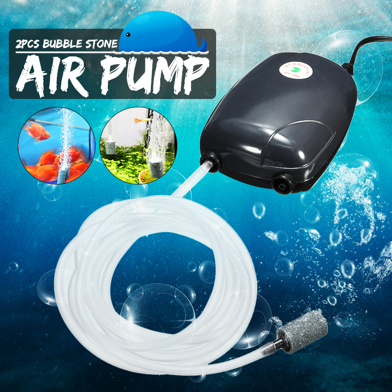 Air Bubble Disk Stone Aerator Aquarium Fish Tank Pond Pump Hydroponic Oxygen Fish Tank Accessories with 2 Air Bubble Disk Stone