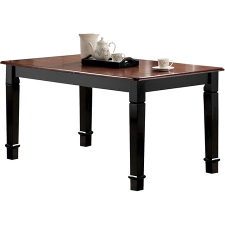 chicago dining table cherry and black