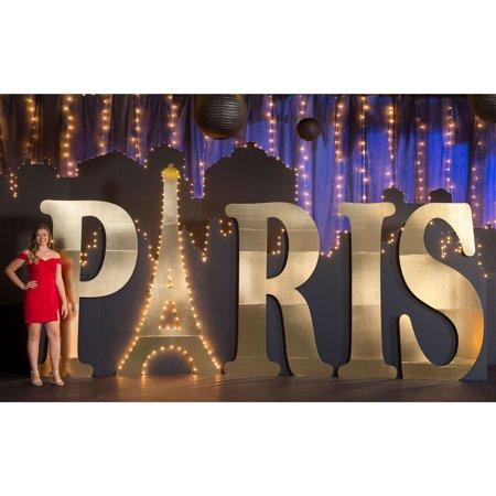 8 ft. 5 in. Under the Eiffel Paris Letter Set ()