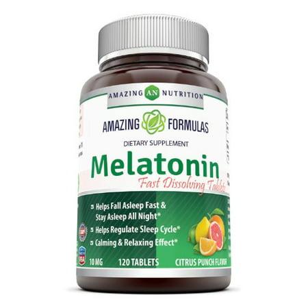 Amazing Formulas Melatonin (Citrus Flavor) 10 Mg 120