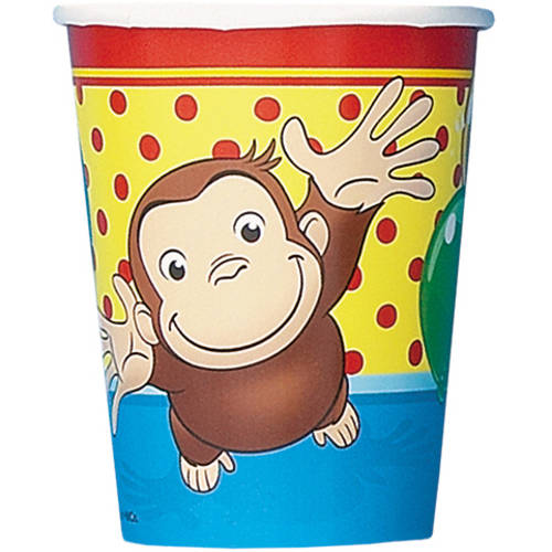 Curious George Cups, 8ct