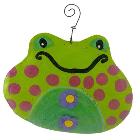 Peri Woltjer FRIENDLY FROG HANGER Metal Screen Spring Flower Garden 20121928 (Peri Woltjer Halloween)