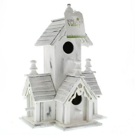 Modern Birdhouse, Cute Wooden Outdoor Bird House