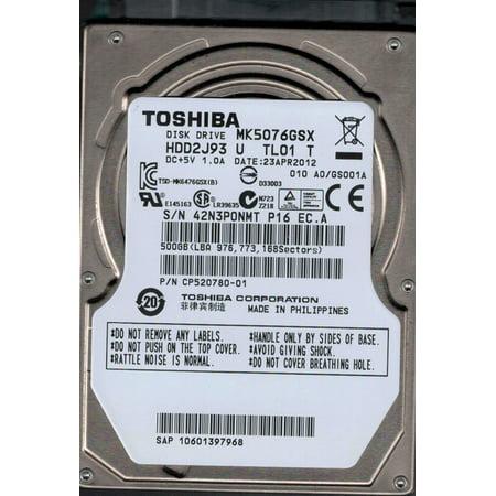 Toshiba MK5076GSX HDD2J93 U TL01 T 500GB Philippines F/W: A0/GS001A