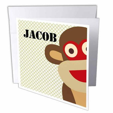 3drose jacob boys name monkey greeting cards 6 x 6 inches set of 3drose jacob boys name monkey greeting cards 6 x 6 inches set of m4hsunfo