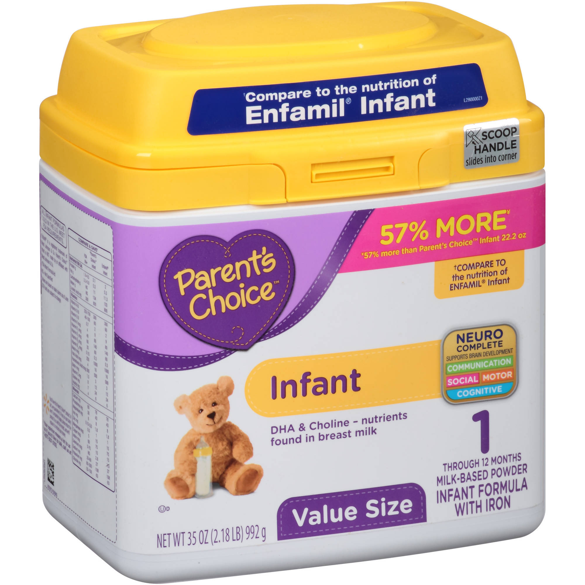 Parent's Choice Infant Powder Formula with Iron, 35oz (Pack of 4)