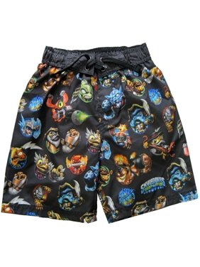 2e98cc3fcf Product Image Skylander Little Boys Black Blue Cartoon Print UPF 50+ Swimwear  Shorts