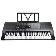 61 Key 110v Full Size Electronic Piano Music Electric Keyboard LCD Display USB Input MP3 Black