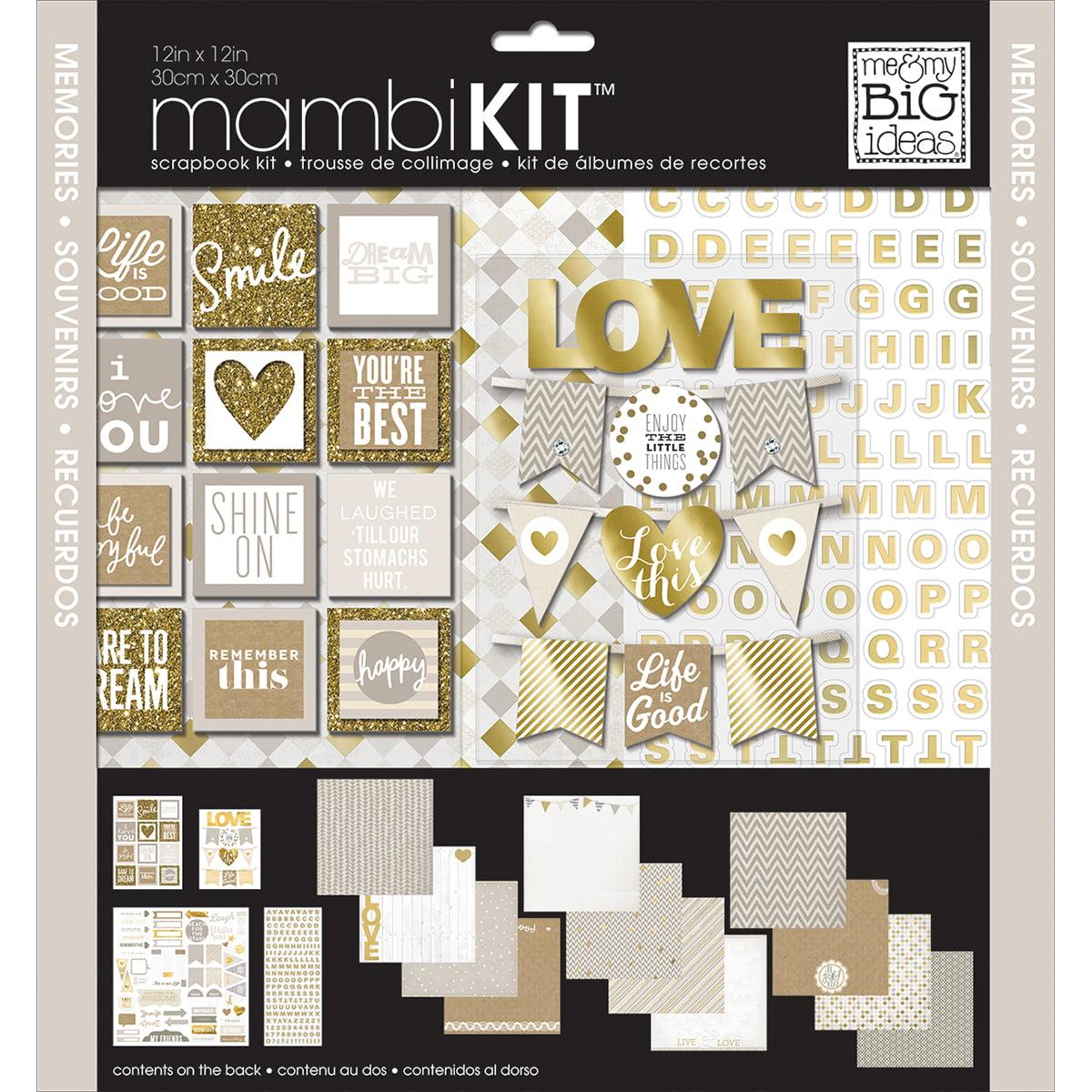 "Me & My Big Ideas Page Kit 12""X12""-Memories"