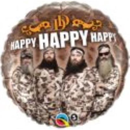 Dynasty Foils - Duck Dynasty Happy Happy Happy Foil Balloon, 2PK