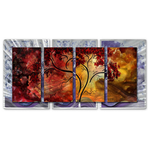 All My Walls 'Passionate Light' by Megan Duncanson 4 Piece Painting Print Plaque Set
