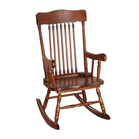 Image of ACME Aaro Youth Rocking Chair, Tobacco