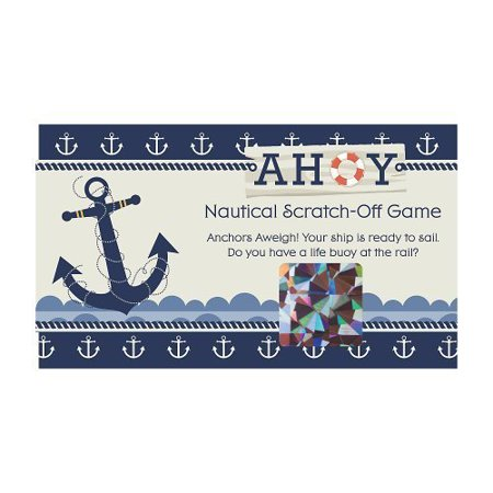 Ahoy Nautical - Party Game Scratch Off Cards - 22 Count