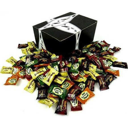 Bali's Best Coffee & Tea Candies 6-Flavor Variety: One 1 lb Assorted Bag of Coffee, Espresso, Latte, Green Tea Latte, Citrus Green Tea, and Classic Iced Tea in a BlackTie