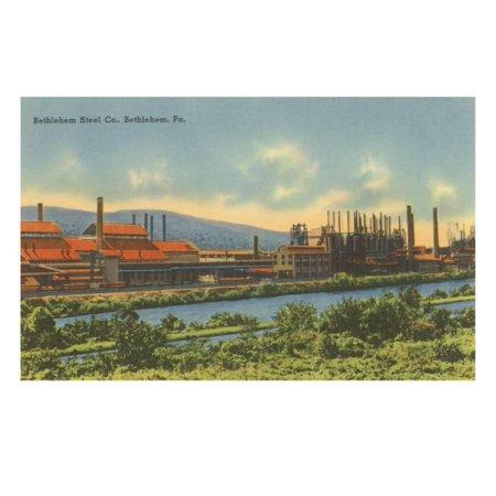 Bethlehem Steel, Bethlehem, Pennsylvania Print Wall Art ()