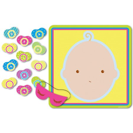 Club Pack of 24 Baby Shower Themed Pin The Pacifier on the Baby Party Game