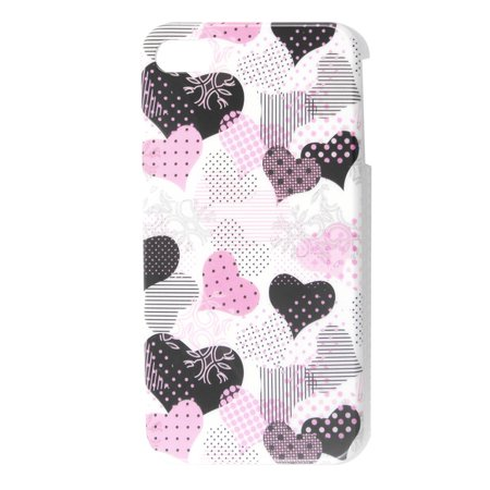 Hearts Detailing IMD Plastic Multicolor Back Cover for iPhone 4 4G - image 1 de 1