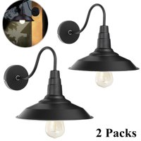 1/2/3 PCS Retro Vintage Metal Wall light Lampshade Outdoor Indoor Wall Mounted Lighting, Industrial Style Decorating For Front Porch, Garage, Warehouse