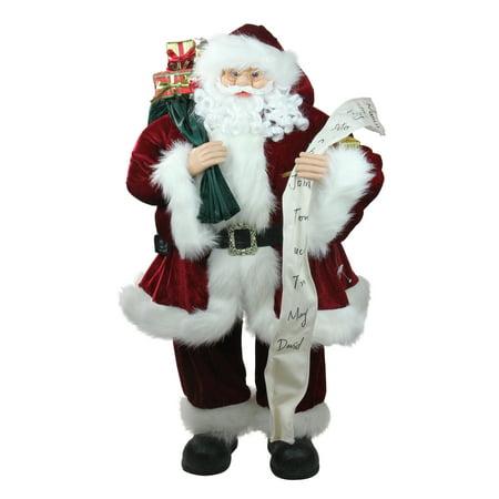 3' Standing Santa Claus with Naughty or Nice List and Bag of Presents Christmas Figure](Santa Claus Naughty Or Nice List)
