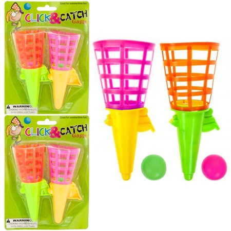 4 Click and Catch Ball Kid Games Party Favor Summer Fun Outdoor Indoor Game](Halloween Party Games For Kids Indoors)