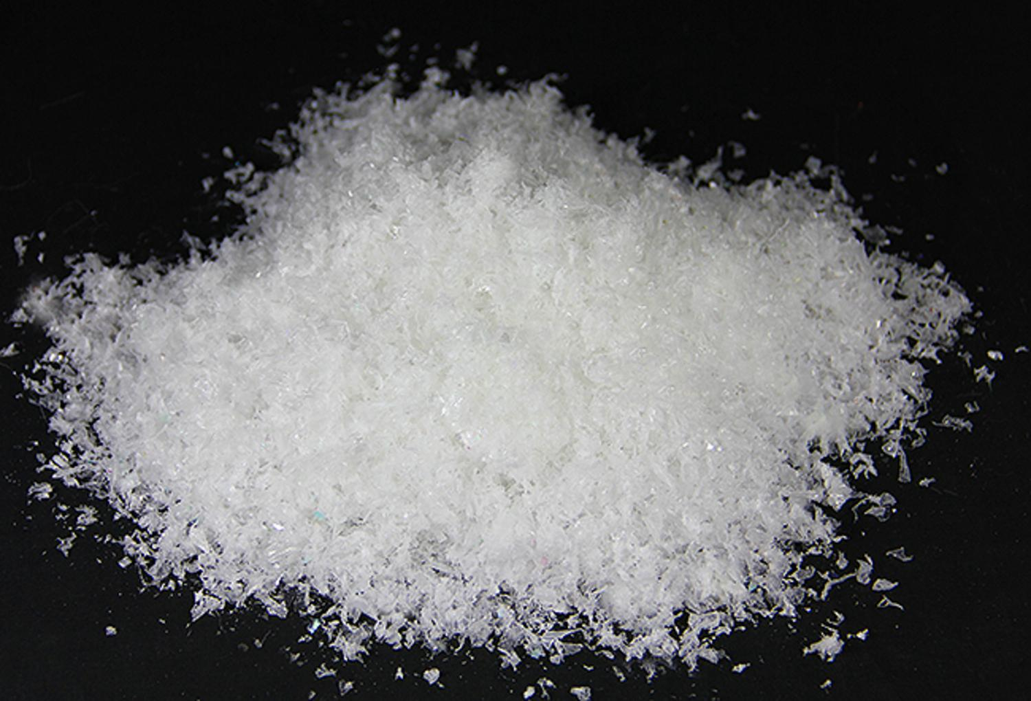 1.5 oz. White Iridescent Artificial Powder Snow Twinkle Flakes for Christmas Decorating