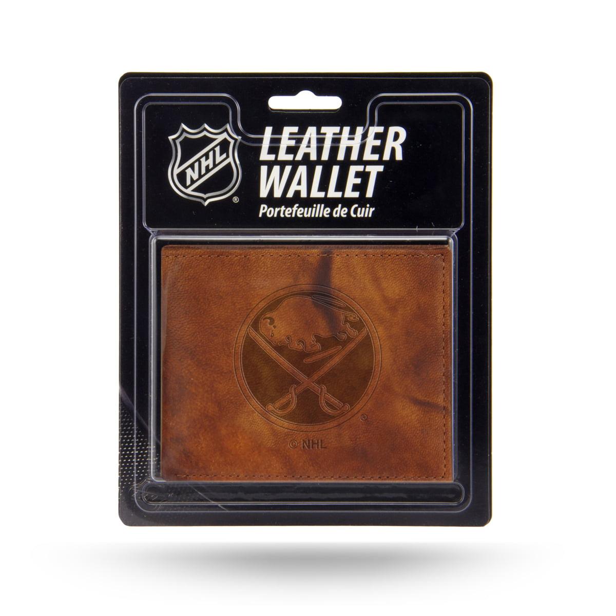 Buffalo Sabres NHL Embossed Brown Leather Billfold Wallet
