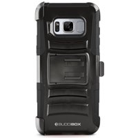 BUDDIBOX Galaxy S8 Plus Case [HSeries] Heavy Duty Swivel Belt Clip Holster with Kickstand Maximal Protection Case for Samsung Galaxy S8 Plus, (Black)