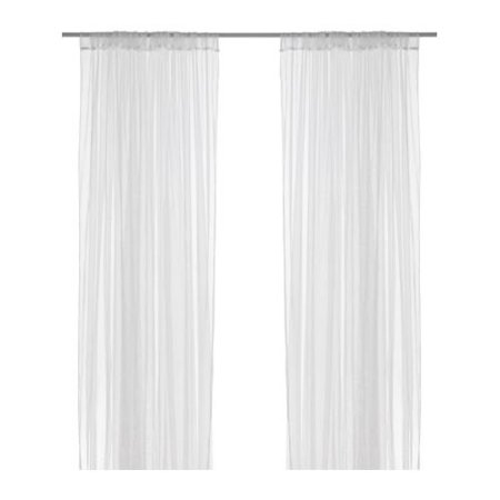 - Mesh Lace Curtains, 110 Inch By 98 Inch, 1 Pair, White By IKEA Ship from US