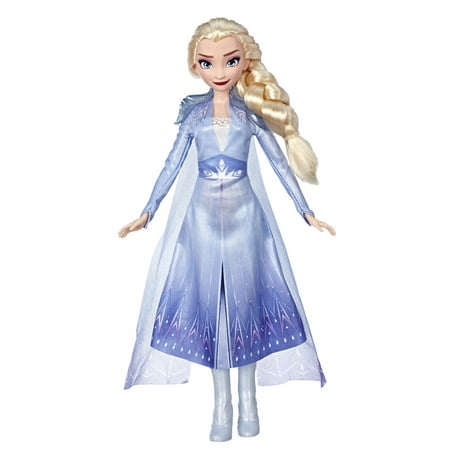 Disney Frozen 2 Elsa Fashion Doll with Long Blonde Hair Blue Outfit