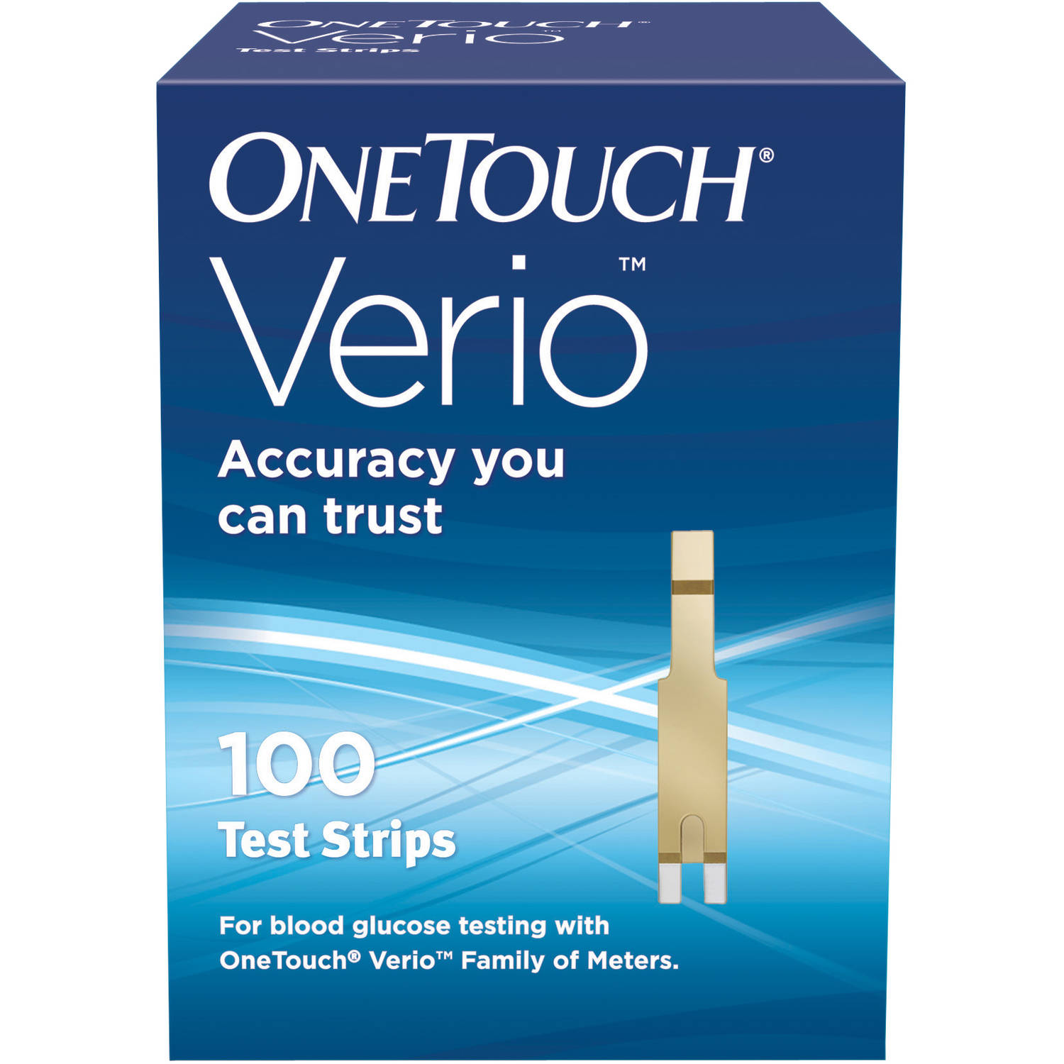 OneTouch Verio Blood Glucose Test Strips, 100 count