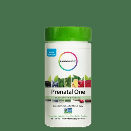 Rainbow Light Prenatal One Plus Superfoods & Probiotics Multivitamin Tablets - (The Best Prenatal Vitamins 2019)