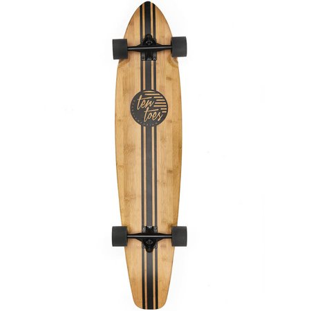 "Ten Toes ZED Bamboo Longboard Skateboard Cruiser, 44"", Multiple Colors Available"
