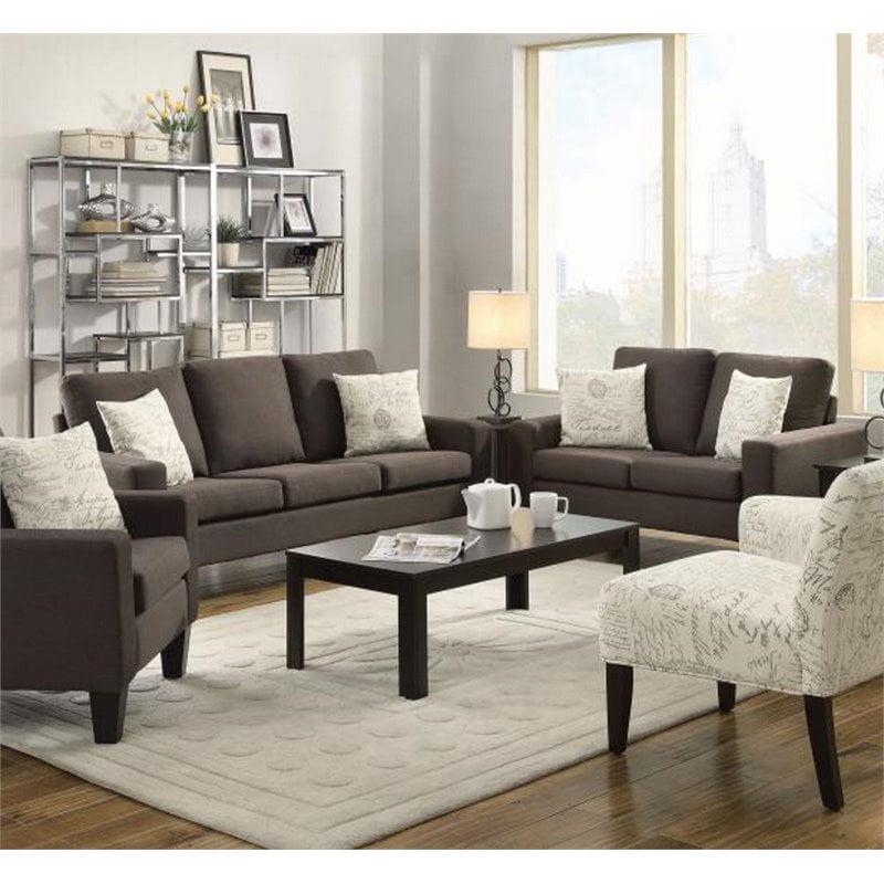 Coaster Bachman 2 Piece Linen Sofa Set in Gray