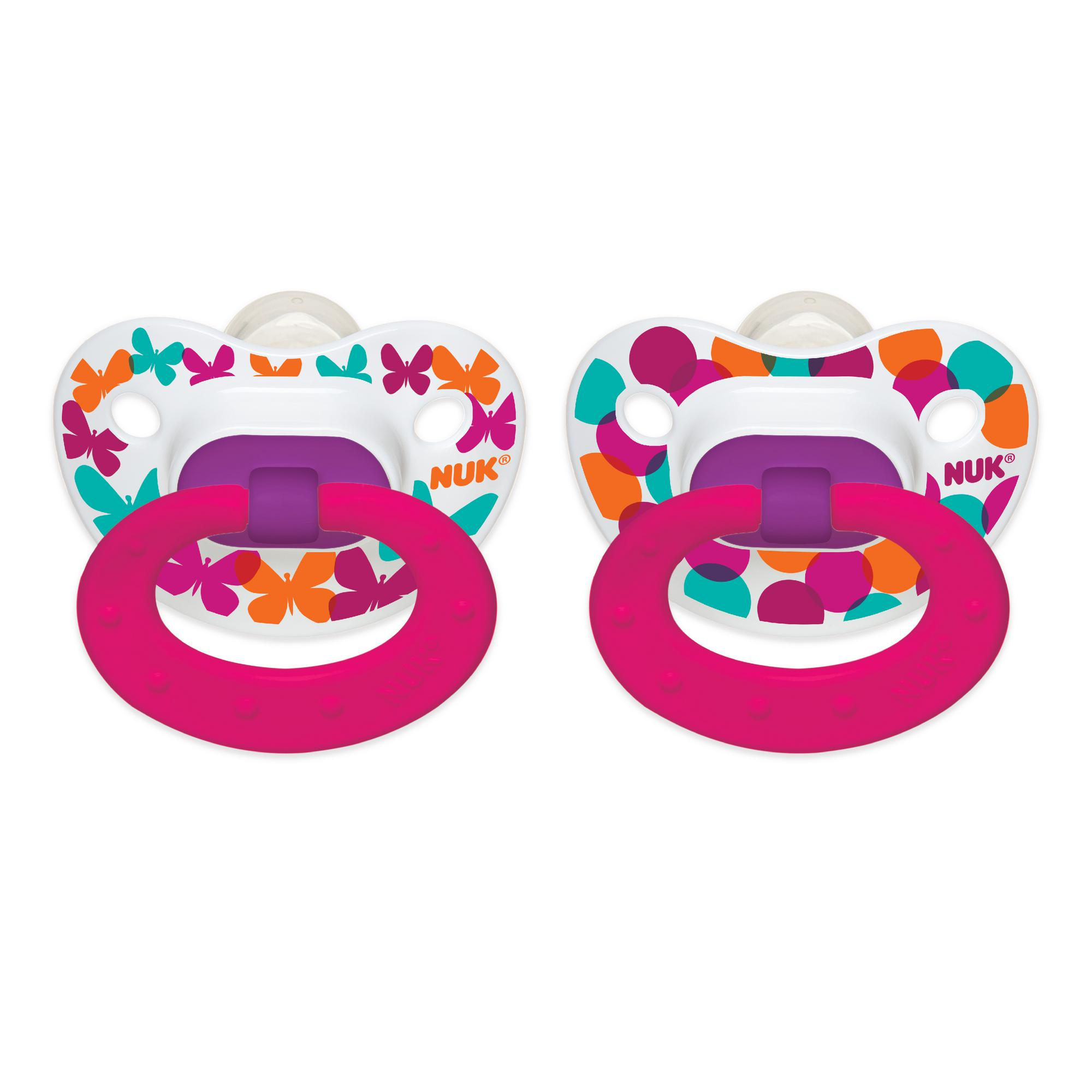 NUK Orthodontic Pacifier, 18+ Months, Dots - 2 Counts