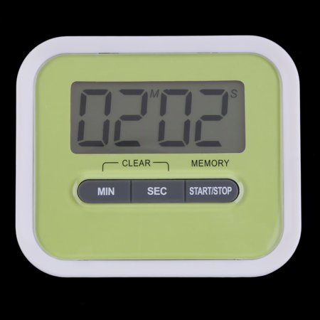 Fancyy Large LCD Digital Kitchen Cooking Timer Count-Down Up Clock Loud Alarm Green - image 12 of 12