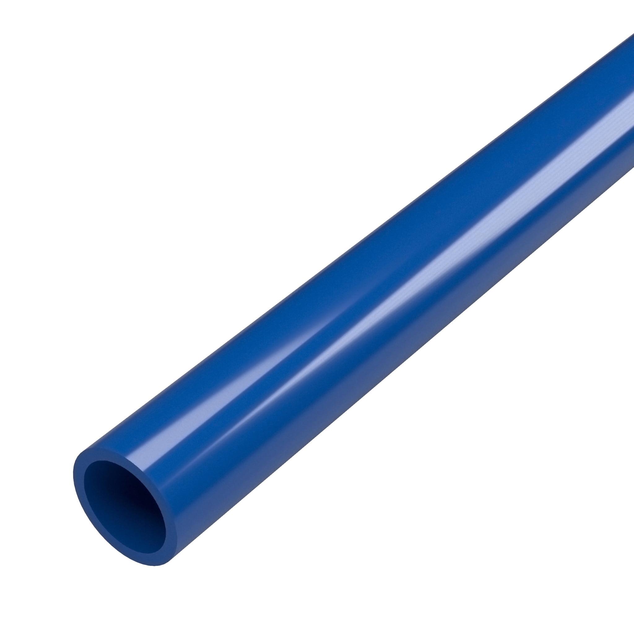"""FORMUFIT P012FGP-BL-5 Schedule 40 PVC Pipe, Furniture Grade, 5-Feet, 1/2"""" Size, Blue"""