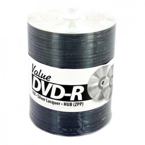 200 JVC Taiyo Yuden Value Line 16x DVD-R Silver Thermal Lacquer