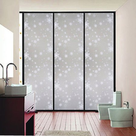 Waterproof Window Glass Film Sticker Frosted Privacy Window Film Self  Static Cling For Home and Office