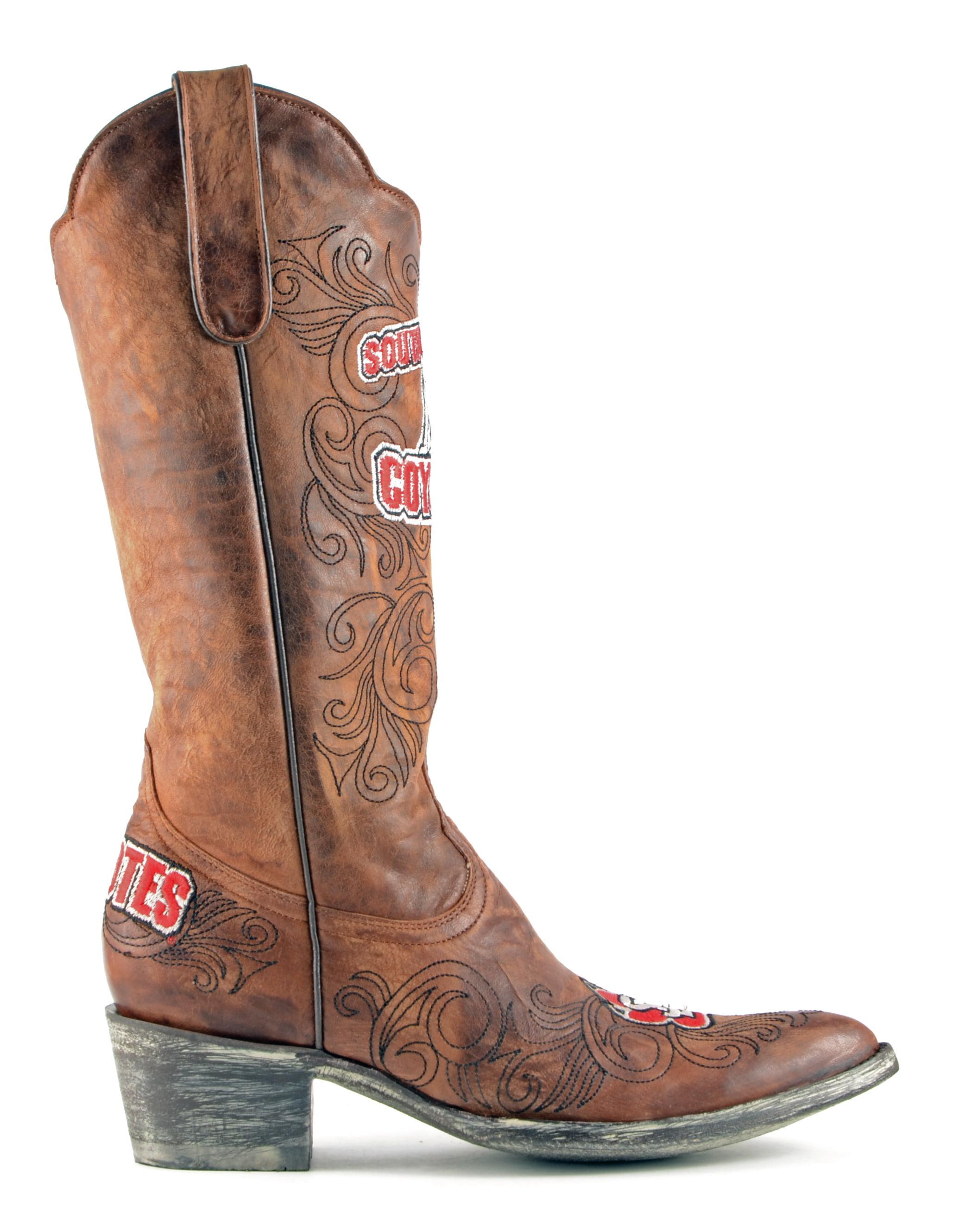 "Gameday Womens Cowboy 13"" Leather South Dakota Cowboy Womens Boots SDA-L245-1 New 17697e"