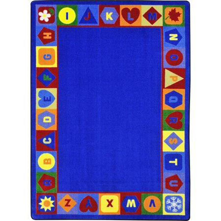Joy Carpets Seasons and Shapes Alphabet Kids Indoor Area Rug