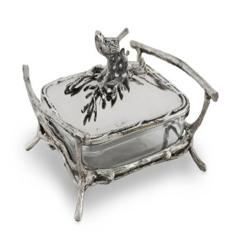 Star Home Designs Bird and Branches Square Baker/Server w...