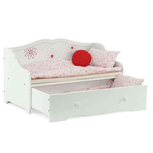 "Day Bed and Trundle Fits American Girl Dolls | Stylish Floral 18"" Inch Doll Furniture... by Emily Rose Doll Clothes"