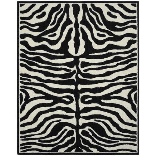 Garland Rug Safari Black/Ivory Area Rug