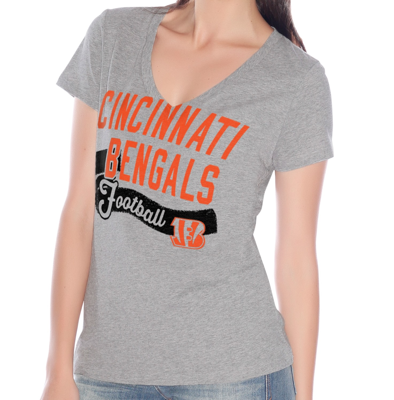 "Cincinnati Bengals Women's G-III NFL ""Scout Team"" V-neck Grey T-shirt"