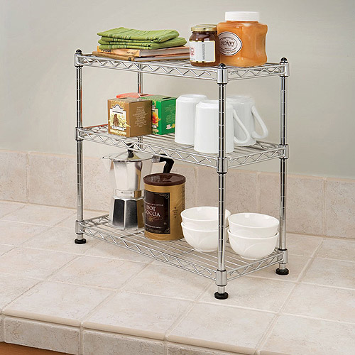 Seville Classics Mini 3-Tier Shelf Organizer, SHE05105ZB