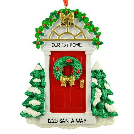 Personalised Christmas Ornaments (RED DOOR Personalized Christmas Tree Ornament)