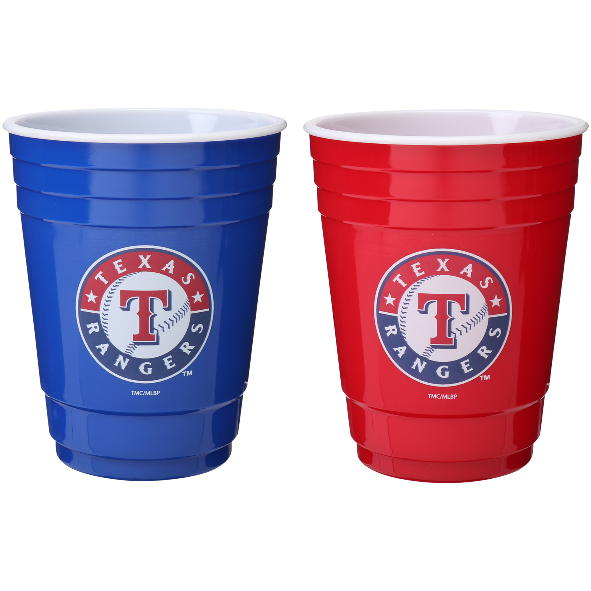 Texas Rangers Two-Pack Home And Away Plastic Cup - No Size