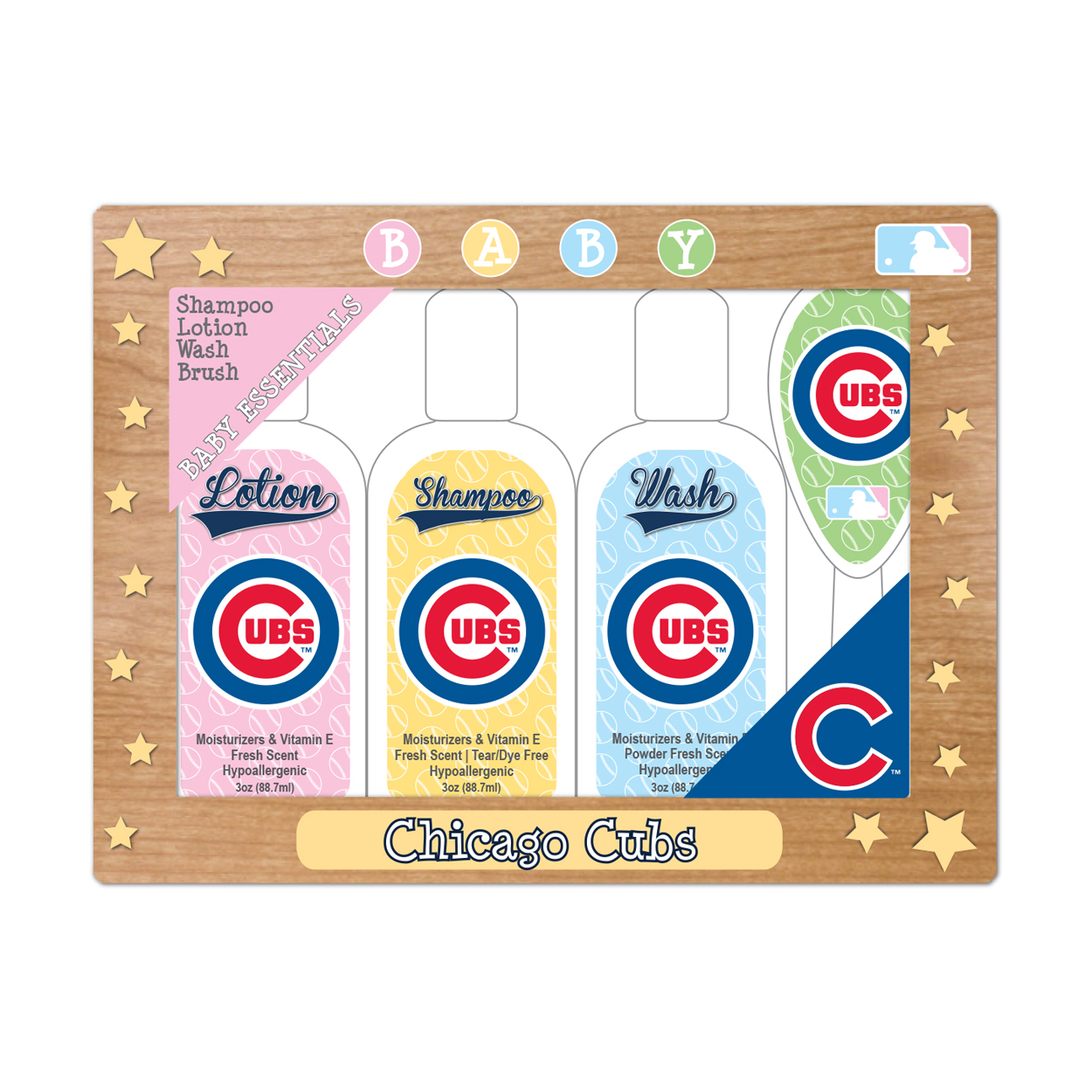 MLB Chicago Cubs Baby Gift Set  7.25 x 5.75 x 1.5-